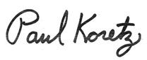 Signature of Paul Koretz